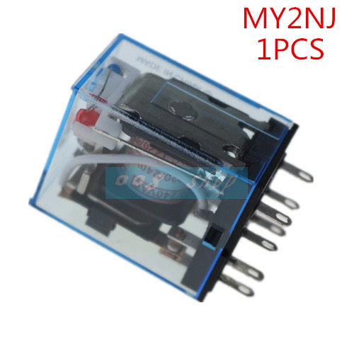 1PCS MY2P HH52P MY2NJ Relay Coil General DPDT Micro Mini Electromagnetic Relay Switch with LED AC 110V 220V DC 12V 24V 220 240v ac coil dpdt power relay my2nj 8pin 5a