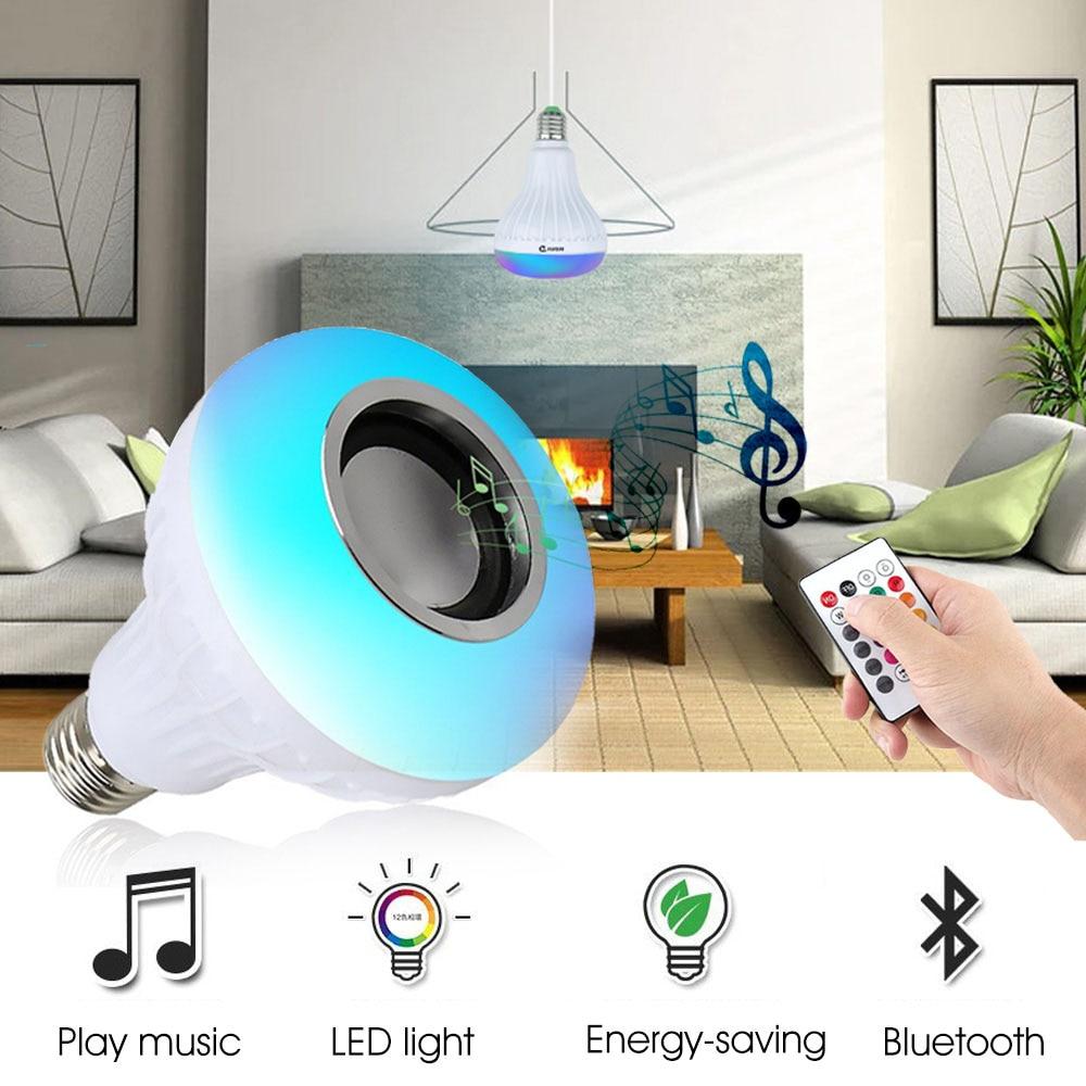 VONTAR E27 B22 BT003 Smart RGBW Glühbirne Drahtlose Bluetooth Lautsprecher Musik Spielen Dimmbare LED-Player 24 Keys Fernbedienung