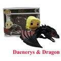 Funko POP Passeios Game of Thrones de Daenerys & Dragão Dragão Figura de Ação Figura Modelo Decoração Presente Para Coleção de Vinil