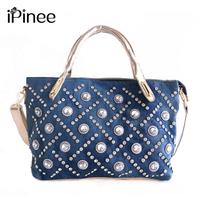 Women Bag Denim Shoulder Bags IPinee Brand Fashion Handbags Luxury Designer High Quality Totes Sac A