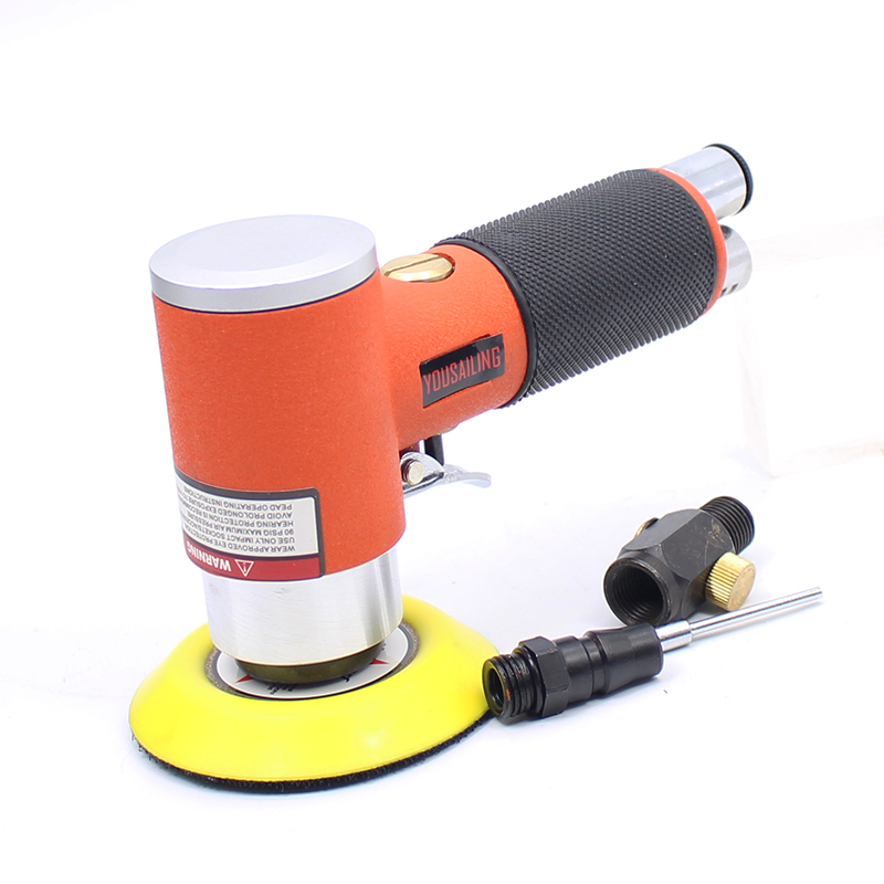 YOUSAILING Quality 3 Inch Air Orbital Sander Eccentric Pneumatic Grinder Sander Tool 90 Degree 5 inch 125mm pneumatic sanders pneumatic polishing machine air eccentric orbital sanders cars polishers air car tools