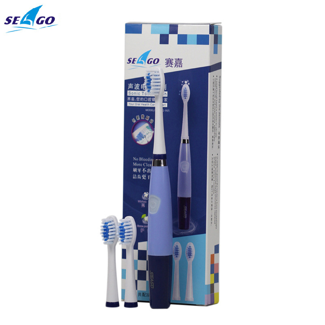 Seago Ultrasonic Sonic Electric toothbrush for adults 23000 micro-brushes per minute 3 brush heads SG-915 ABS/TBE