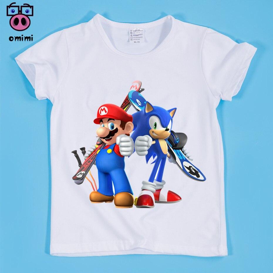 В наличии, Размеры (90-160 см) Детская Superbrother Милая футболка с принтом для мальчиков и девочек Ежик футболка
