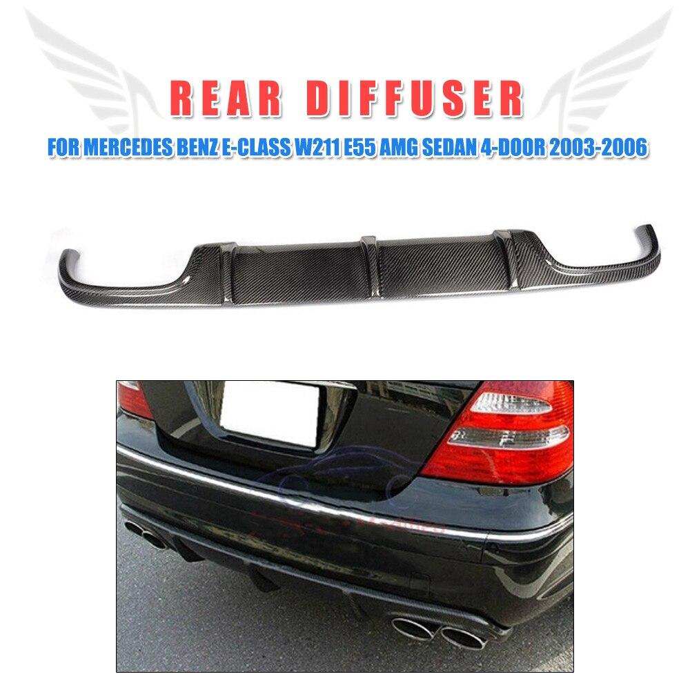 Garde-boue de pare-chocs de lèvre de diffuseur arrière de Fiber de carbone pour Mercedes Benz classe E W211 E55 AMG berline 4 portes 2002-2006