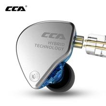 CCA Ca4ใน1dd + 1baหูฟังMonitorโลหะHybrid Hifi Bassหูฟังเสียงรบกวนหูฟังชุดหูฟัง