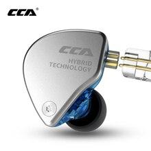 CCA Ca4 Trong 1dd + 1ba Tai Tai Nghe Nhét Tai Màn Hình Kim Loại Công Nghệ Hybrid Hifi Bass Tai Nghe Nhét Tai Thể Thao Tiếng Ồn Tai Nghe Loại Bỏ Tai Nghe