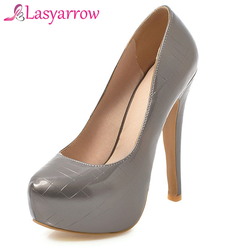 Color rose Chaussures blanc Noir Lasyarrow Talon Rm318 47 Bouche Rond Plate Haute De Grande Dames Pompes Peu rifle forme Marque Bout Taille Stilettos Profonde Femme CwwSpq5BgF