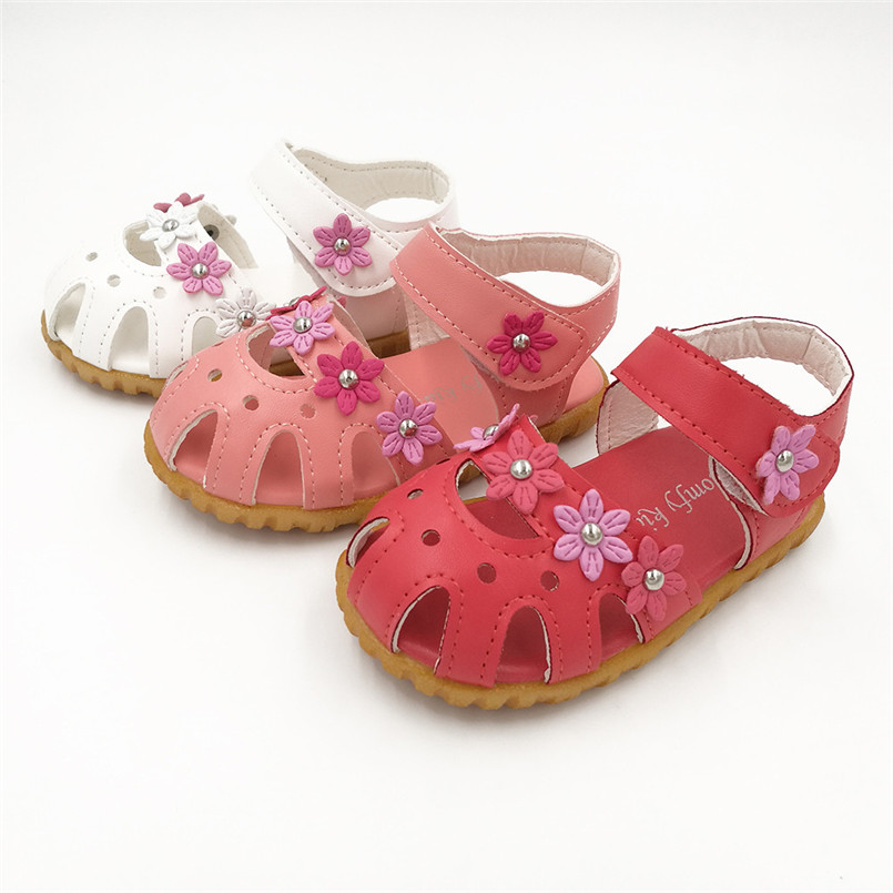 2018 Hot Sale Sandals Children Fashion Causal Summer Flat Flower Soft Bottom Girls Sandal Shoes sandalias nina kinder sandalen T
