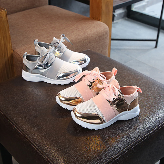 New Spring gray pink Children Sport Shoes Fashion Girls Boys Antislip Running Mesh Sneakers Baby Toddler Breathable Shoe 21-30