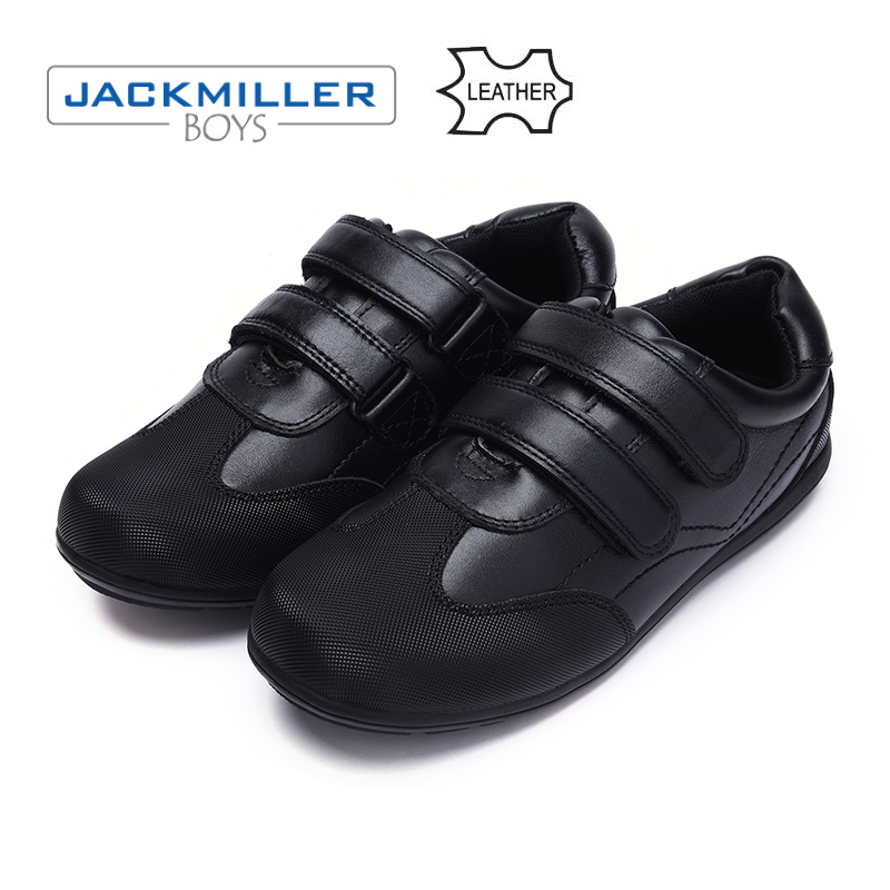 Jackmillerboys School Students Shoes warm genuine Leather Children Shoes For Boys Flats Dress Shoes Black autumn size 31-40 ...
