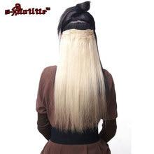 Snoilite цвет красного вина шиньон 23 дюймов 180 г прямые 18 Зажимы в накладные для укладки волос Синтетические пряди для наращивания волос 8 шт./компл.