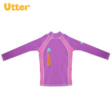 UTTER Baby Kids Summer Long Sleeve Tops Shirt Swimwear Sun Protection Rash Guard for Children Beach Swimming Clothes