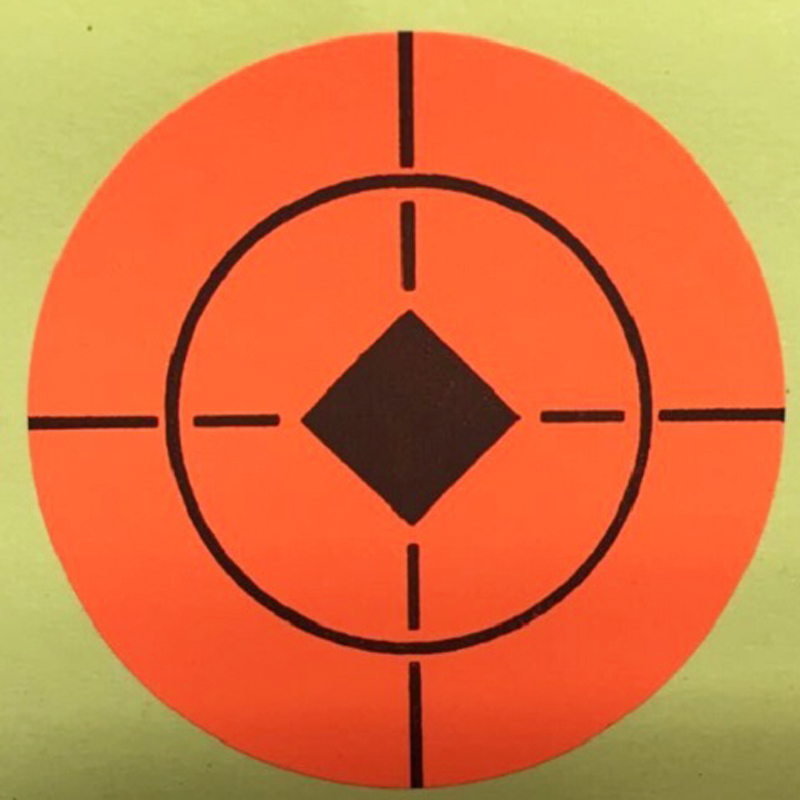 250PCS target with 2-inch neon orange self-adhesive sticker can be glued on any surface Suitable for all types of firearms
