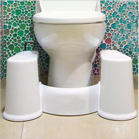 Removable Toilet Stool Non Slip Squat Toilet Tool Comfortable Squat Aid Stool Bowel Movements Crouch Hole