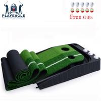 FUNGREEN Golf Putting Green Indoor/Outdoor Golf Auto Return Putting Trainer Mat Indoor Putting Green Gravity Ball Return