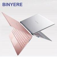 BINYEAE 14 дюймовый ноутбук 8 GB Оперативная память DDR4 128 GB/256 GB/512 GB SSD ips Ultrabook intel J3455 4 ядра клавиатура с подсветкой Тетрадь компьютер