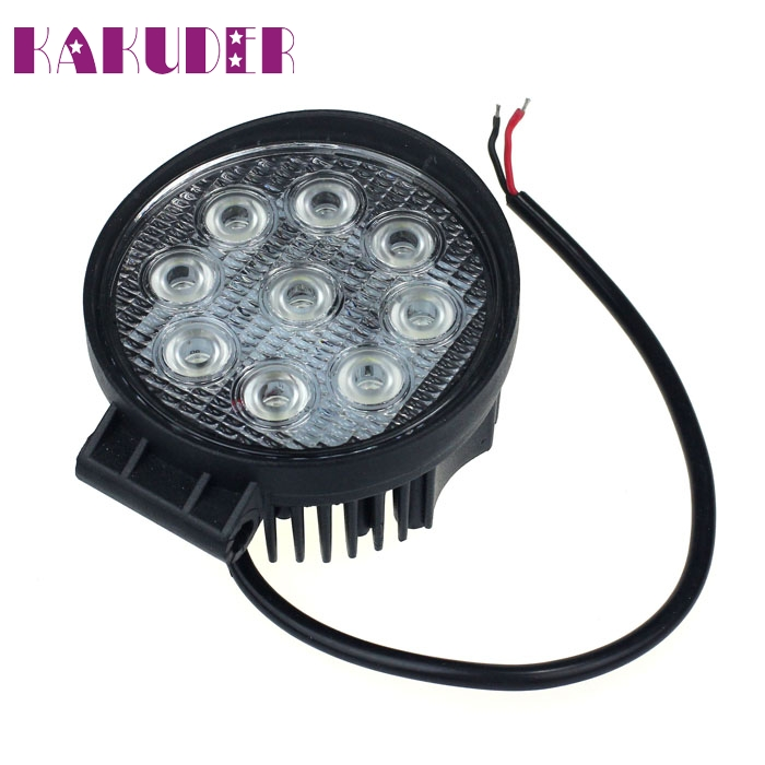 New 27W Spot LED Off Road Work Light Lamp 12V 24V SUV ATV Car Truck Boat SEP 16