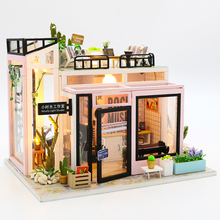 цена на CUTEBEE DIY Dollhouse Wooden doll Houses Miniature Doll House Furniture Kit Casa Music Led Toys for Children Birthday Gift M903