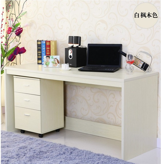 Simple Desktop Computer Desk Embly Table Bookcase Drawers Can Be Customized