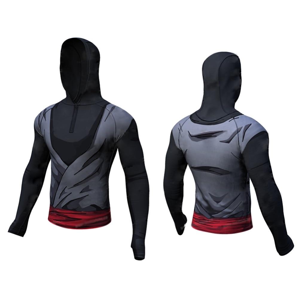 Dragon Ball Z T Shirt for Men Dragon Ball Vegeta Goku Super Saiyan Fitness T Shirt Hoddie Top long sleeve hoodie Hooded coat