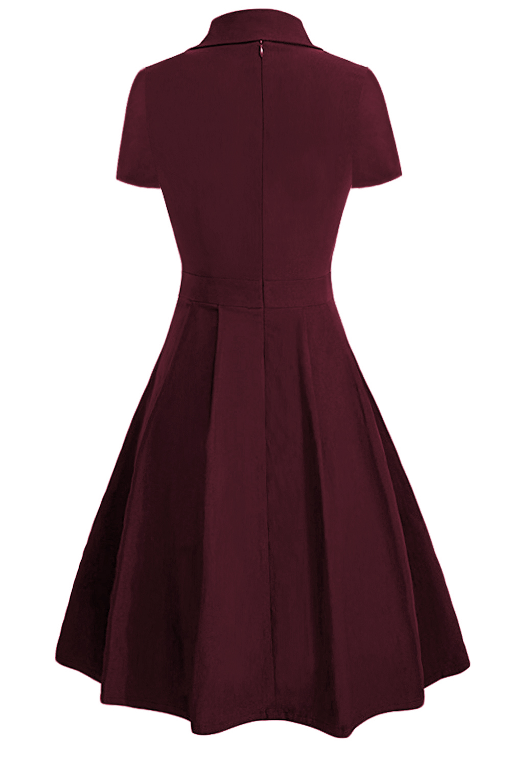 Aliexpress.com   Buy MisShow Burgundy Vintage Dress 2018 Turn down Collar  Short Sleeve Plus Size 4XL Women Dress Office Ladies Dresses Vestidos Mujer  from ... 55d5209eb888