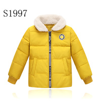 Hot Sale White Duck Down Coat 4 Color New Fashion Baby Winter Girl Warm Cartoon Long Hooded Zipper Down Parkas For 3-12T Retail