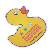 2Pcs Baby Infant Bath Tub Water Temperature Tester Cartoon Duck Thermometer(China)