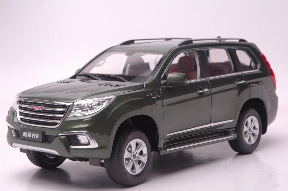 1:18 Diecast Model for Great Wall Haval H9 Green SUV Alloy Toy Car Collection Gifts great wall safe suv g5 новый