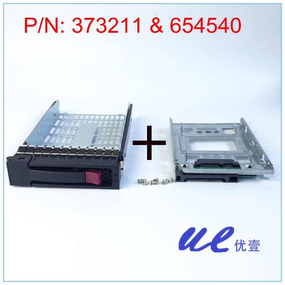 654540-001+373211-001 for HP 2.5 SSD TO 3.5 SATA Converter Hard Drive Tray Caddy new high quality bracket tray caddy dustproof dust prevention for hp microserver gen8