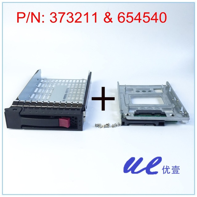 "654540-001+373211-001 for HP 2.5"" SSD TO 3.5"" SATA Converter Hard Drive Tray Caddy"