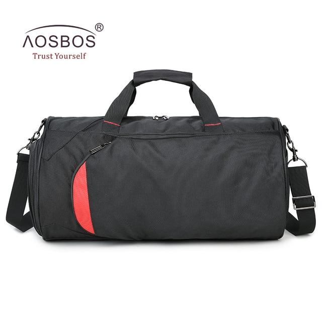 Aosbos Nylon Waterproof Gym Bag Men Women Sports For Fitness Durable Multifunction Basketball Handbag Outdoor