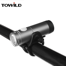 TOWILD Usb Rechargeable Bike Light Front Handlebar Cycling Led Light Battery Flashlight Torch Headlight Bicycle Accessories