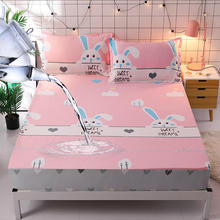 Waterproof Cotton Bed Sheets bedsheet With Elastic Fitted Sheet Bed cover Mattress Cover160X200cm drap de lit sabanas twin queen