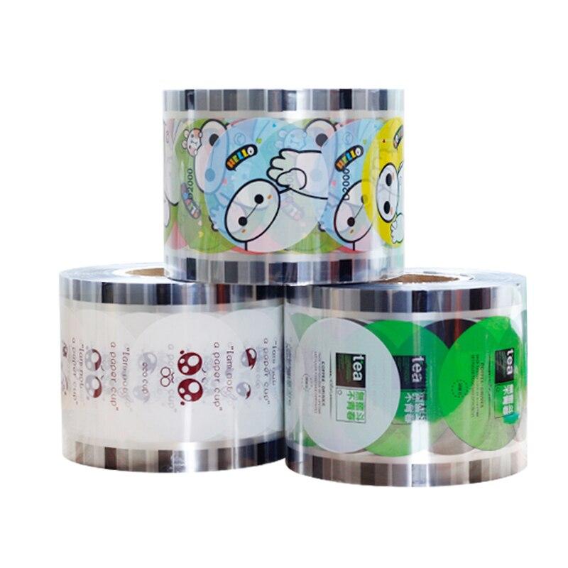 bubble tea sealing film free shipping plastic Cup Sealer Film (customizable LOGO) wholesale ru tea sets tea tea with little relief opening film ru tea travel new