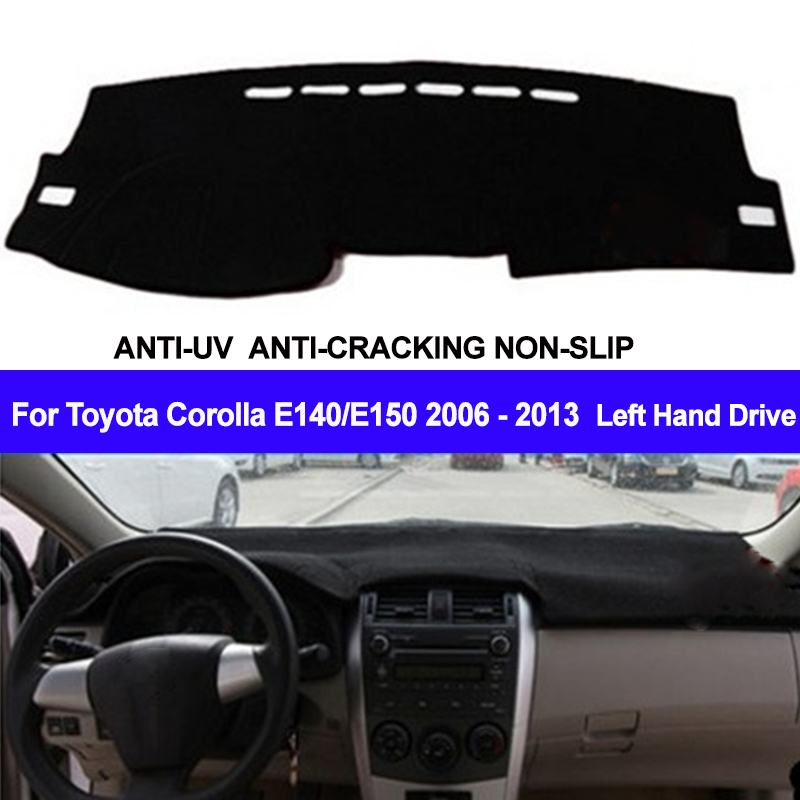 TAIJS Car Dashboard Cover Dash Mat Dash Pad DashMat Carpet For Toyota Corolla E140/E150 2006 2007 2008 2009 2010 2011 2012 2013