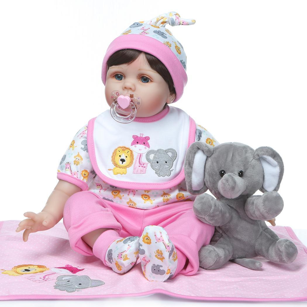 Kids Soft Silicone Realistic With Clothes Collectibles, Gift, Playmate Reborn Baby 2-4Years Opened Eyes DollKids Soft Silicone Realistic With Clothes Collectibles, Gift, Playmate Reborn Baby 2-4Years Opened Eyes Doll