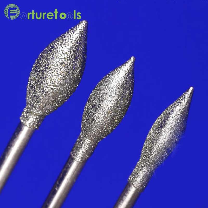 50 pz diamante montato punto smerigliatrice pietra per intaglio - Utensili abrasivi - Fotografia 6