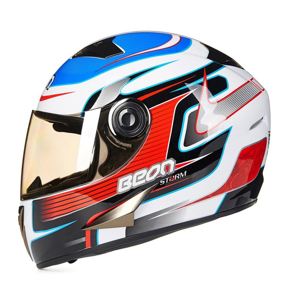 BEON Motorcycle Helmet Full Face Moto Helmet Motorbike Riding Motocross Casco Off Road Helmet Casco Capacetes