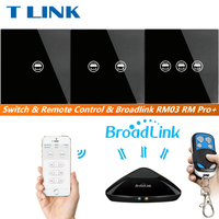 TLINK Broadlink Touch Switch 1 2 3 Gang 1 Way Wireless Remote Control Light Switch LED