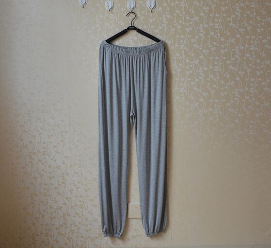 Spring Summer Women's Trousers For Home Pajama Bottoms Cotton Sleep Pants Women Pajama Trousers Black Plus Size XL-XXXL Q207 5