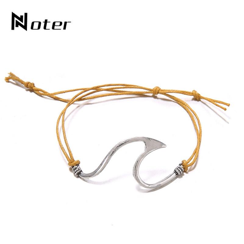 Minimalist Wave Cuff Bracelet Charm Adjustable Weave Rope Braslet For Women Handmade Jewelry Accessories Casual Jewelry Pulsera