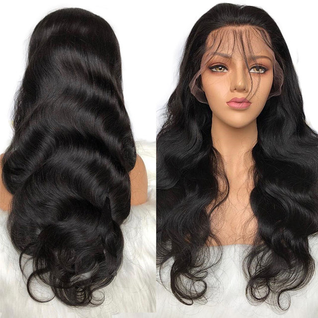 Brazilian Body Wave Wig Pre Plucked Lace Frontal Wig Remy Hair