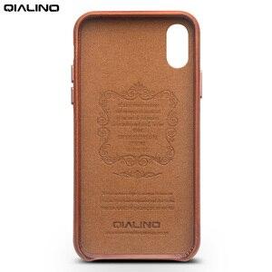 Image 3 - QIALINO Da Thật Chính Hãng Da Ốp Lưng điện thoại Apple cho iPhone X Phong Cách Doanh Nhân Sang Trọng Siêu Mỏng trong cho iPhone XS cho 5.8 inch