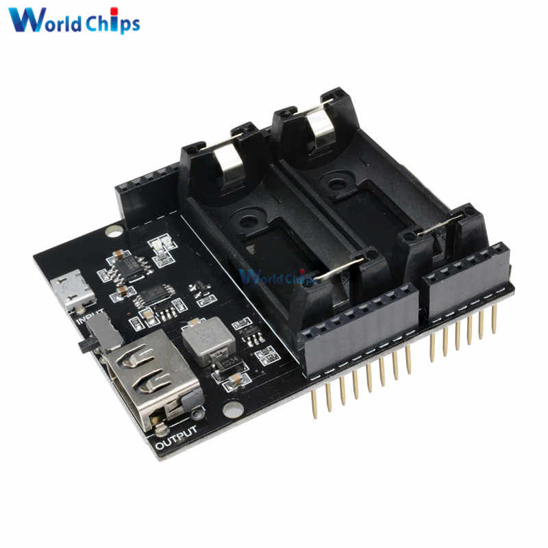 Dual 16340 Rechargeable Lithium Charging Board Power Bank 5V Micro USB Power Supply Module For Arduino UNO R3 One ESP8266 ESP32