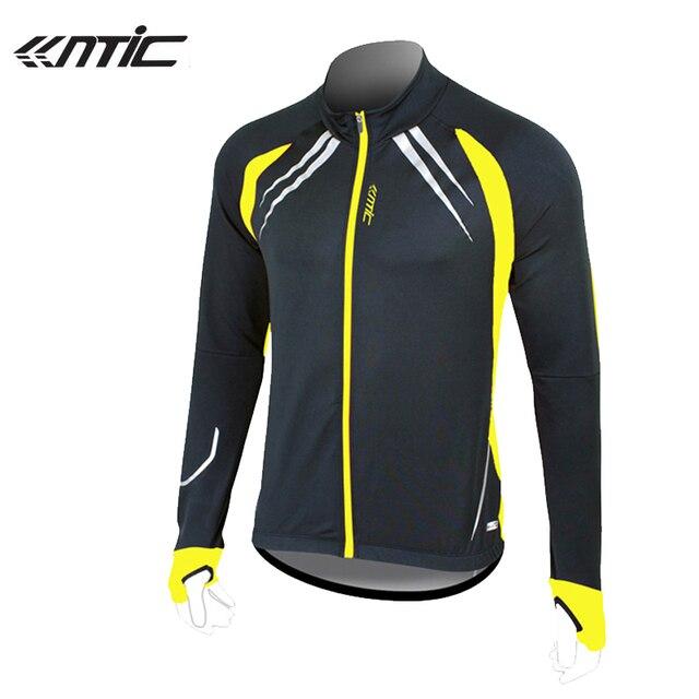d18989e52 SANTIC Fleece Thermal Long Running Jersey Winter Jacket Windproof Hiking  Coat Outdoor Sport Jersey Bicycle Anti-Shrink Jackets