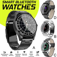 TOP NEW HD Display Bluetoth Smart Watch Blood Pressure Men Women For iphone Android Portable waterproof fashion smart watch(China)