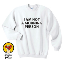 I am Not A Morning Person Top Crewneck Sweatshirt Unisex More Colors XS - 2XL i am a cat plaid insert sweatshirt