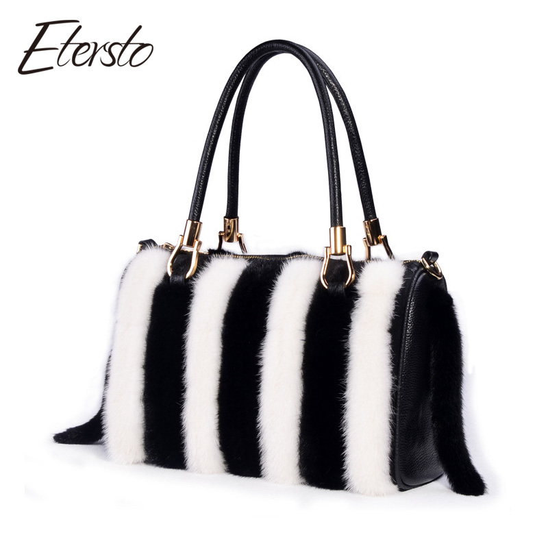 Etersto 2017 New Arrival Women Real Mink Fur Handbag Luxry Real Fur Bag Flap Bags Ladies Crossbody Bags Female Bags For Lady etersto 2017 new arrival women real mink fur handbag luxry real fur bag flap bags ladies crossbody bags female bags for lady