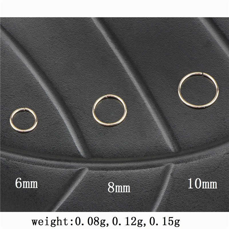 Мода от Ahmed медное бесшовное шарнирное кольцо в нос Перегородка кликер уха хряща трагус Спираль пирсинг в ювелирные изделия для тела