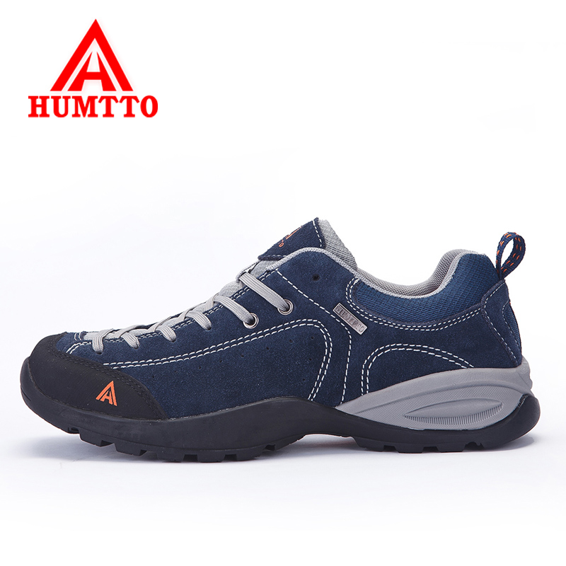 Humtto Spring Men's Waterproof Genuine leather Hiking Shoes Breathable Women's Mountain Climbing Outdoor Walking Sports Sneakers humtto outdoor hiking shoes for women breathable men s sneakers summer camping climbing lovers upstream sports man woman brand